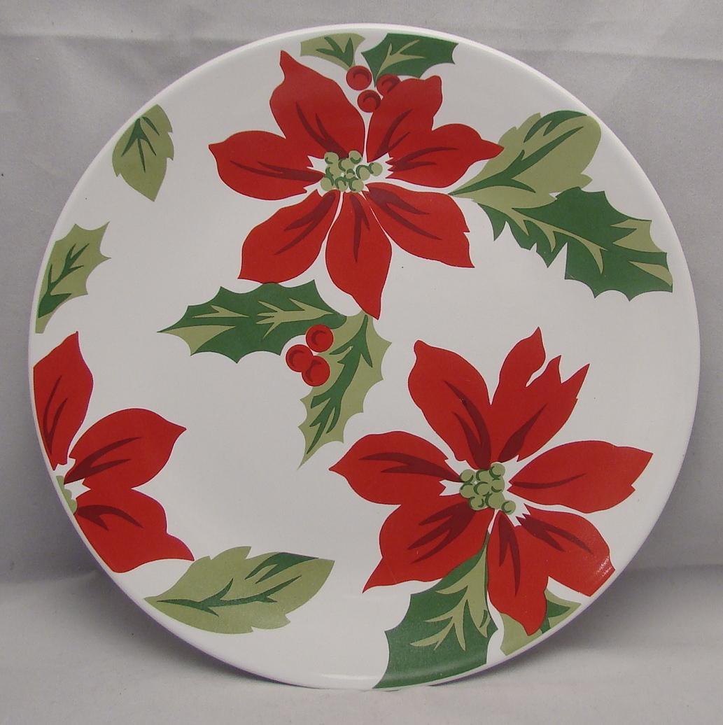 martha stewart mtw16 poinsettia christmas salad plates 8 78 excellent - Christmas Salads Martha Stewart