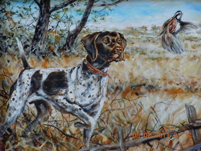 Quail hunting paintings - photo#26