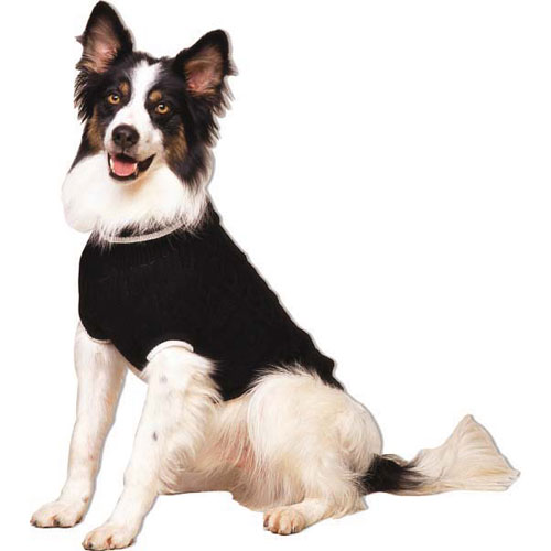 Classic Cable Knit Dog Sweater, Black M