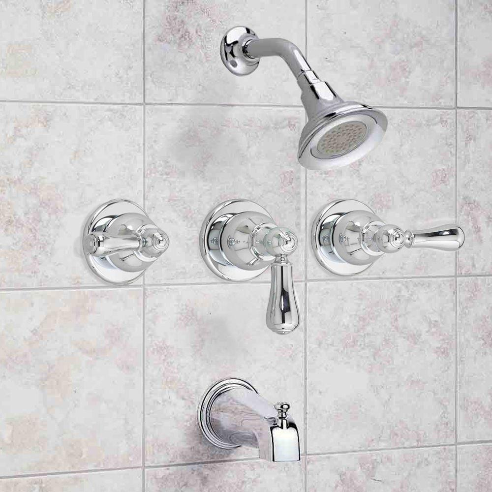 American Standard Hampton Tub And Shower Faucet In Polished Chrome Pppab Done Avi