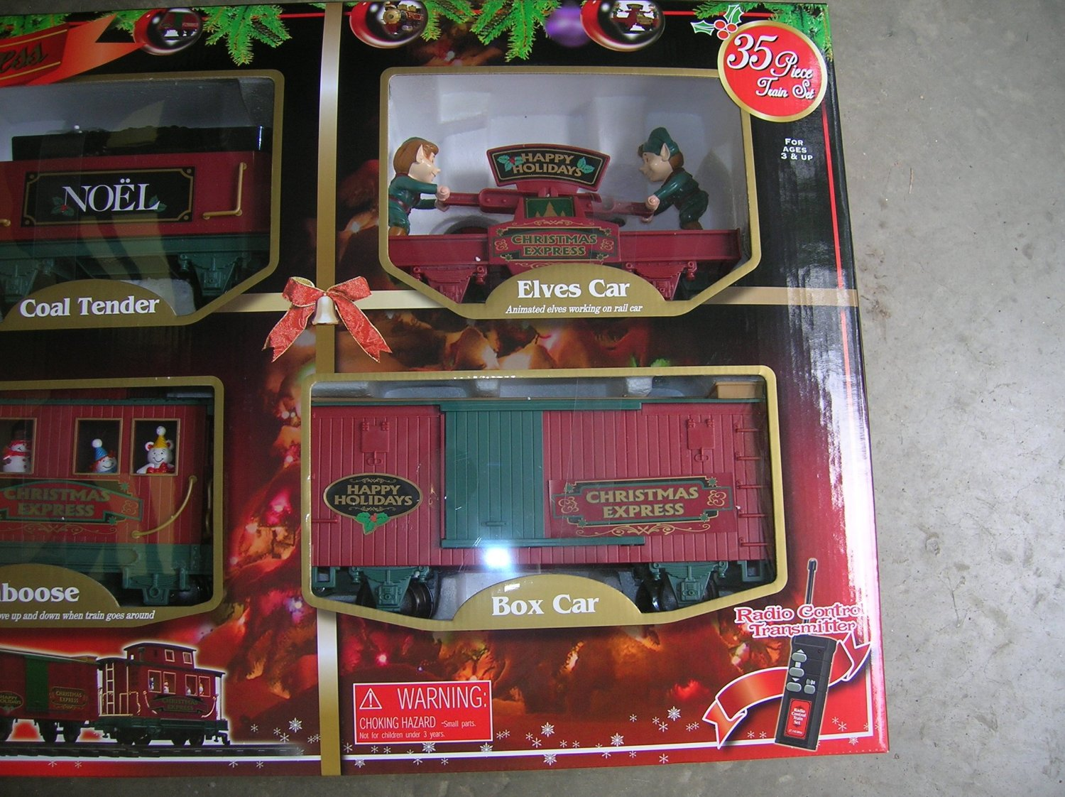 Home Accents Holiday North Pole Express Christmas Train Set 37187 ...