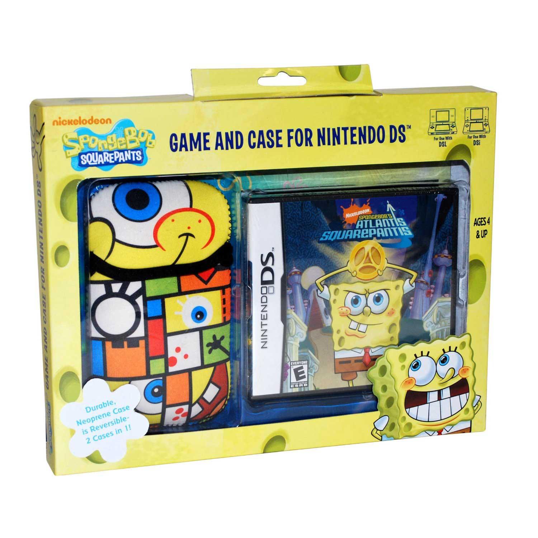 Spongebob Atlantis Squarepantis DS Game and Sakar DS Case ...