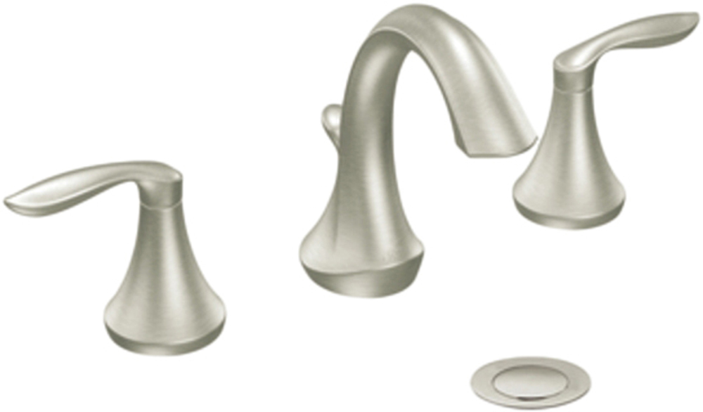 Moen T6420bn Eva Two Handle High Arc Bathroom Faucet Brushed Nickel Pppa Local Avi Depot Much