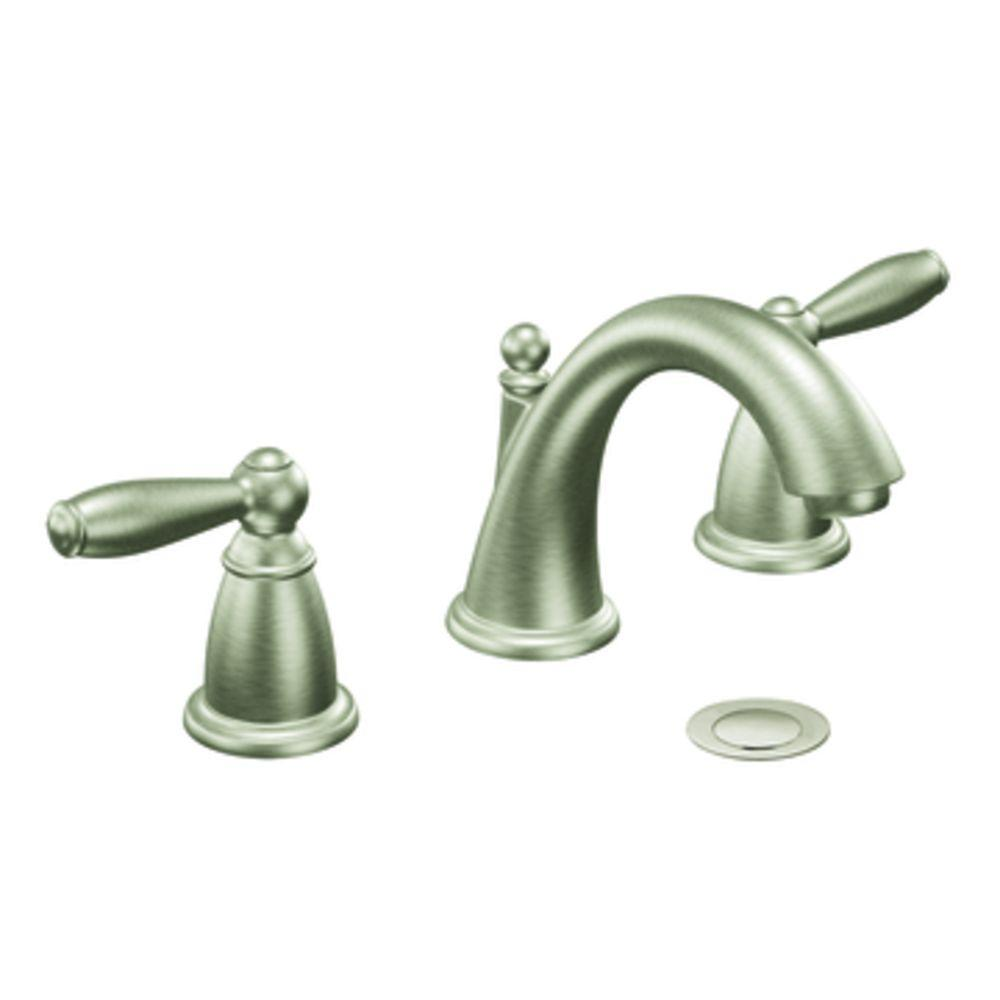 Moen T6620bn Brantford Widespread Bathroom Faucet Trim Kit In Brushed Nickel Ppp Avi Depot Much