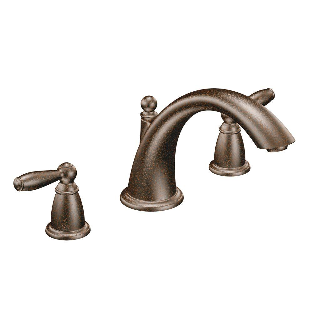 brantford deck mount roman tub faucet trim in oil rubbed bronze pppa