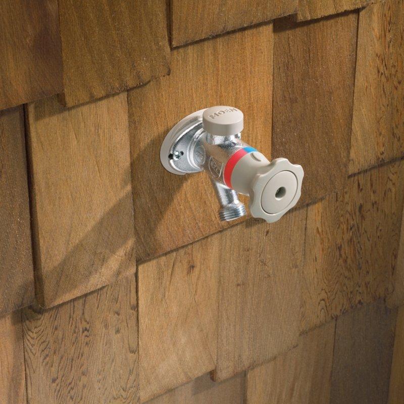 Moen HC400506PX Garden Hose Hot/Cold Outdoor 6 in. Sill Faucet PEX ...
