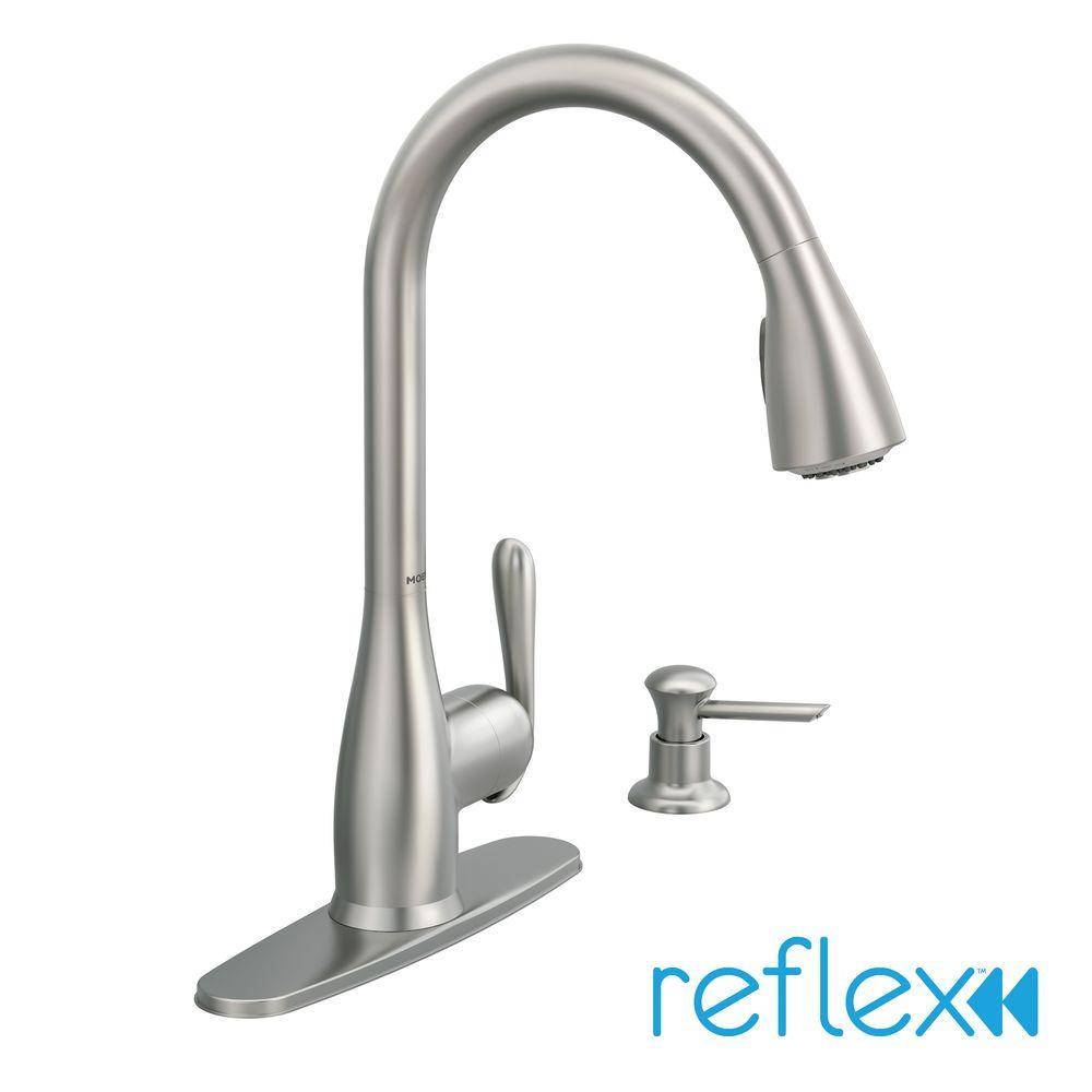 moen 87877srs haysfield pull down sprayer kitchen faucet