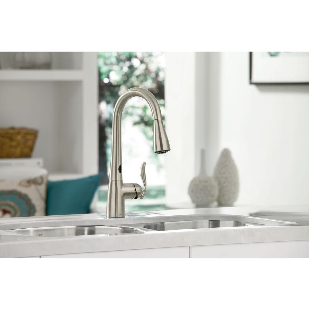 Moen Motionsense Kitchen Faucet: MOEN 7594EC Arbor MotionSense Single-Handle Pull-Down