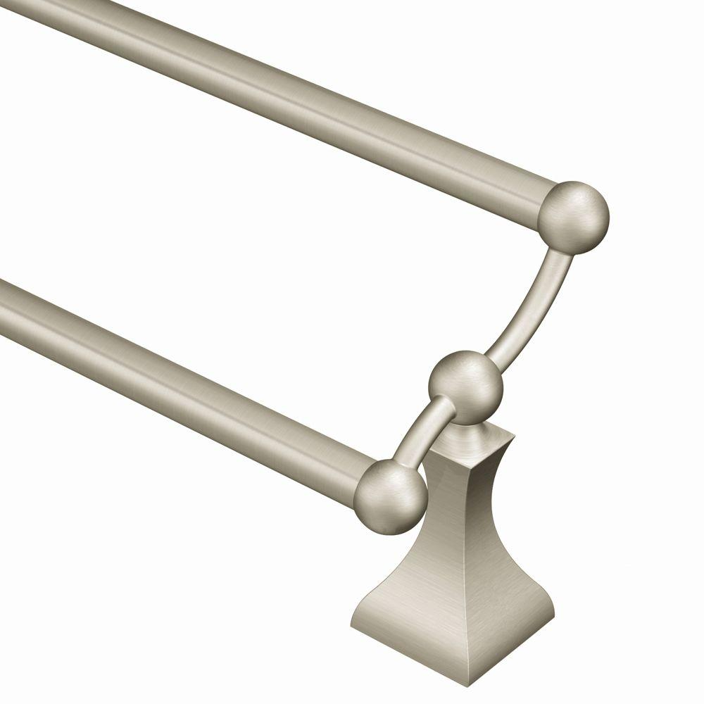 moen dn8322bn retreat 24 inch double towel bar brushed nickel pppa