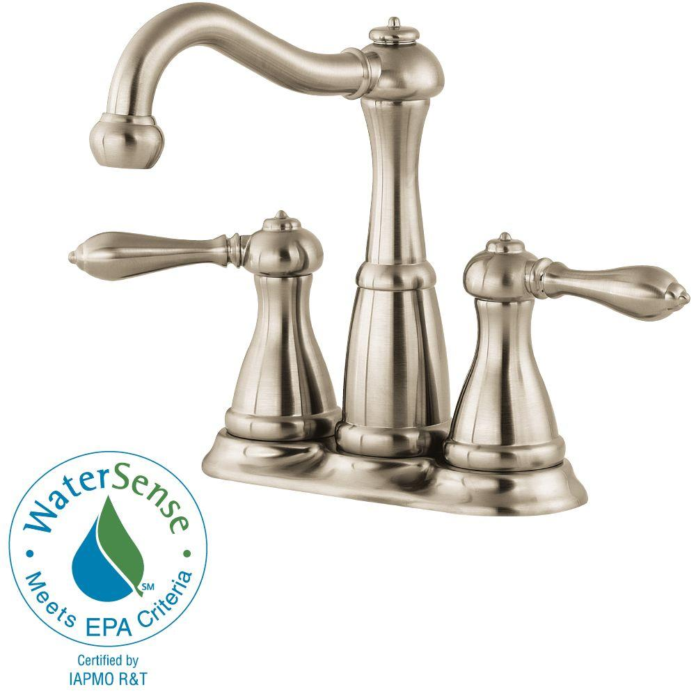 Pfister f 046 m0bk marielle 4 in minispread 2 handle for 4 minispread faucet