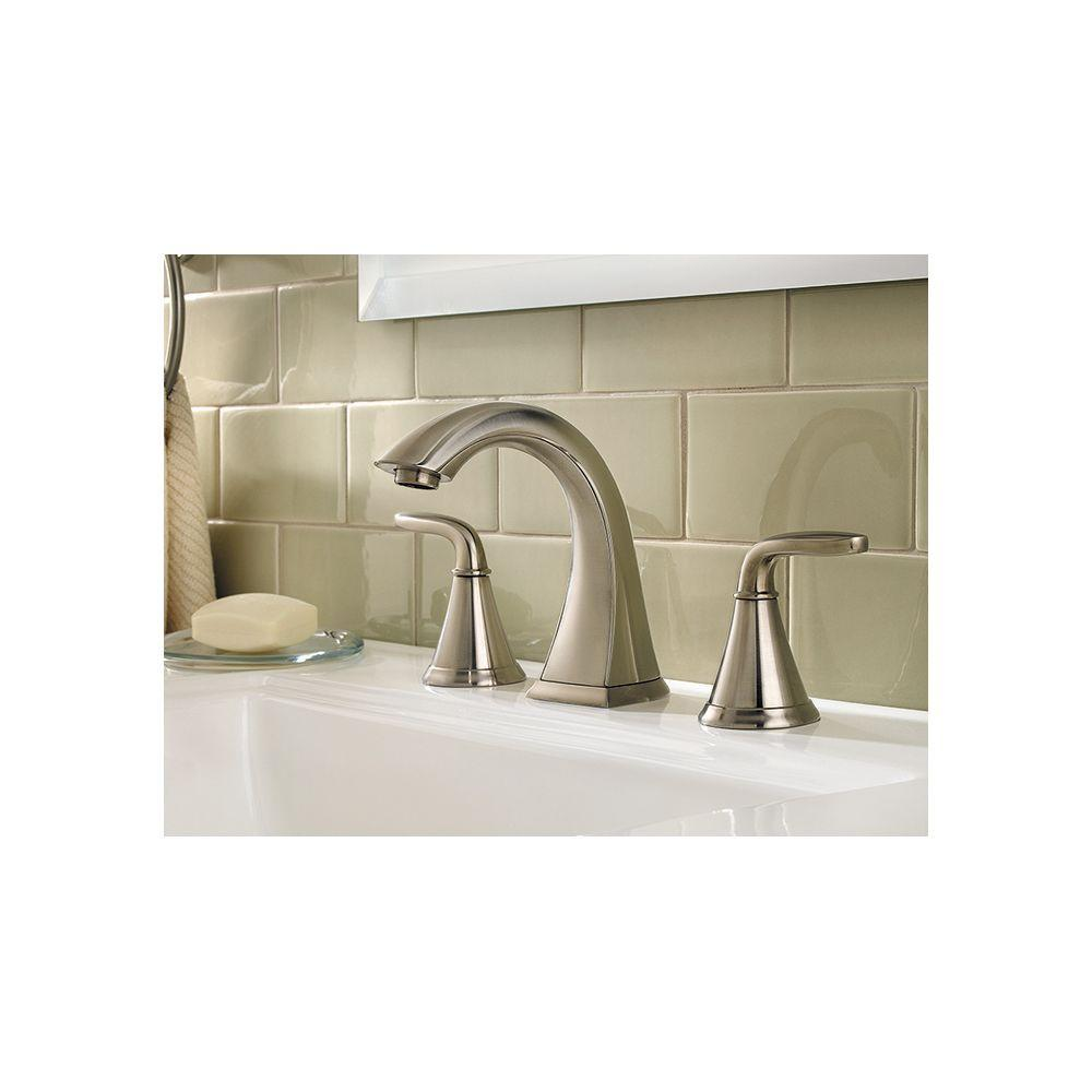 Pfister f 049 pdkk pasadena 8 in widespread 2 handle high for 8 bathroom faucet in brushed nickel