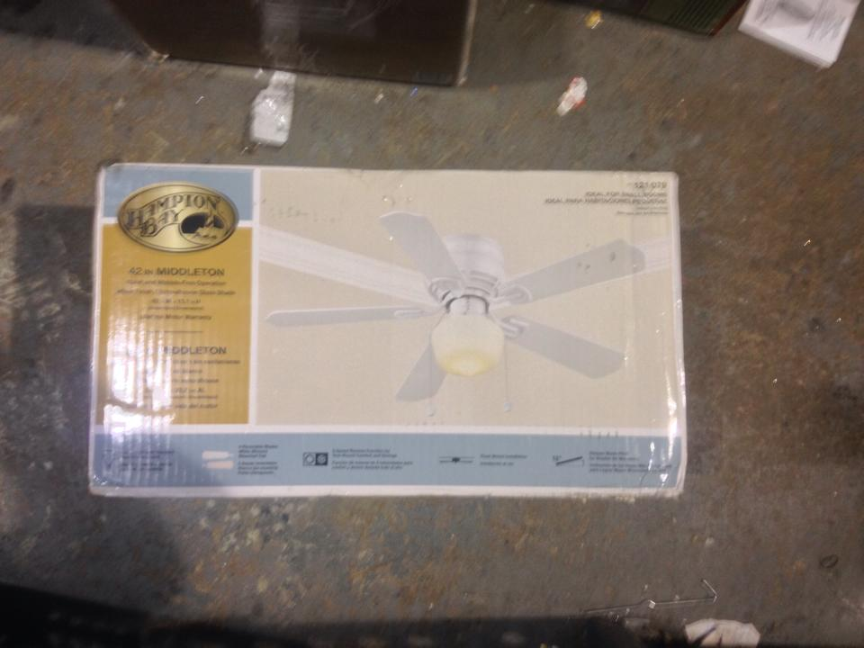 Hampton Bay Ue42vwh Shb Middleton 42 In White Ceiling Fan
