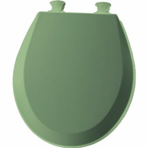 Bemis 500ec095 Molded Wood Round Toilet Seat Bayberry