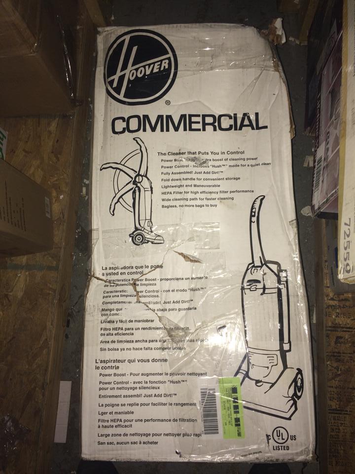 Hoover C1660-900 Commercial Hush Bagless Upright Vacuum PPPAB , Avi on