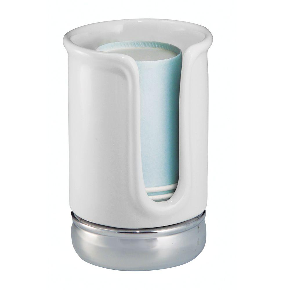 york 75801 disposable cup dispenser in white chrome set of