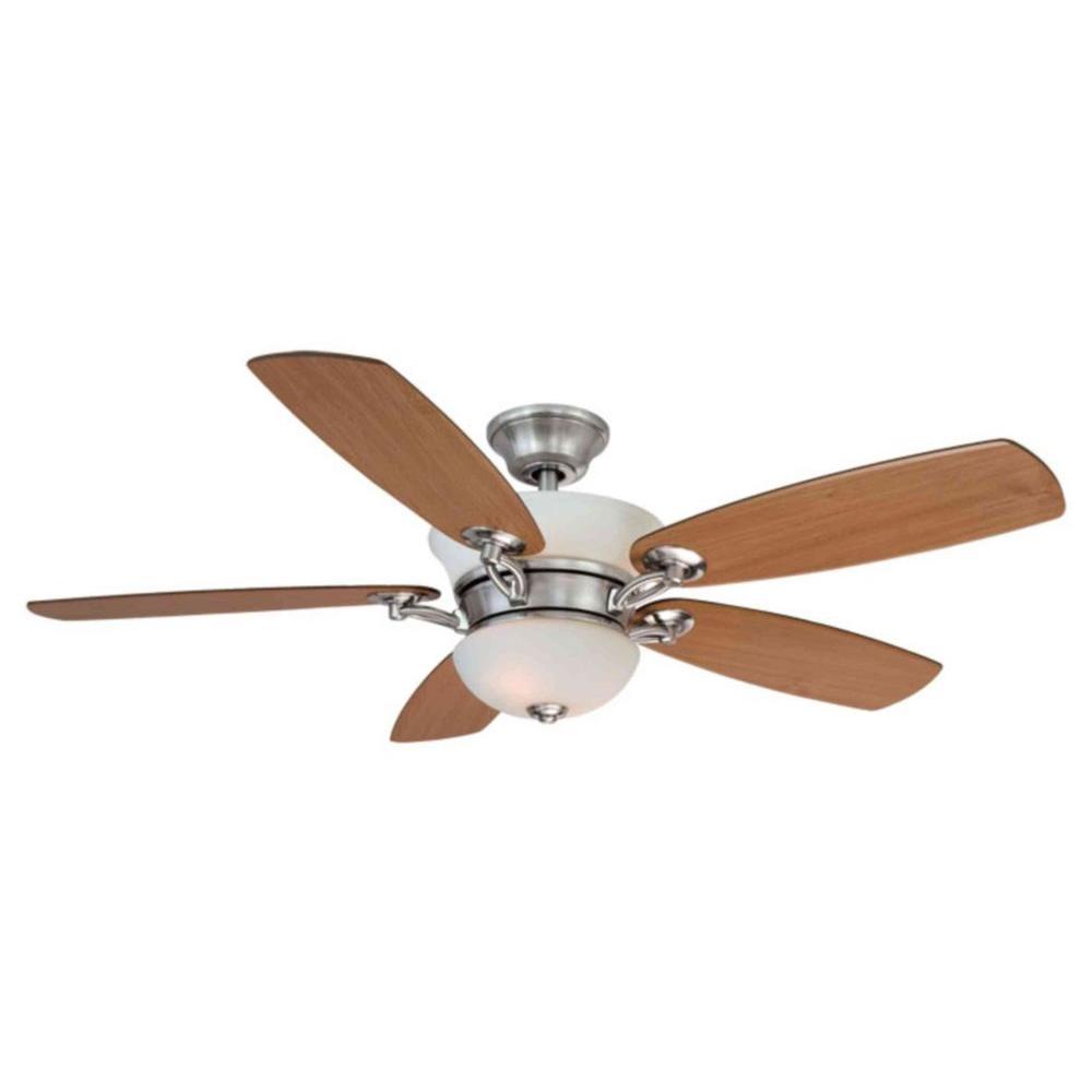 Hampton Bay Minorca 52 In Indoor Brushed Nickel Ceiling