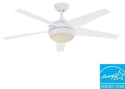 Hampton Bay Windward IV 52 In White Energy Star Ceiling Fan With Light Kit P