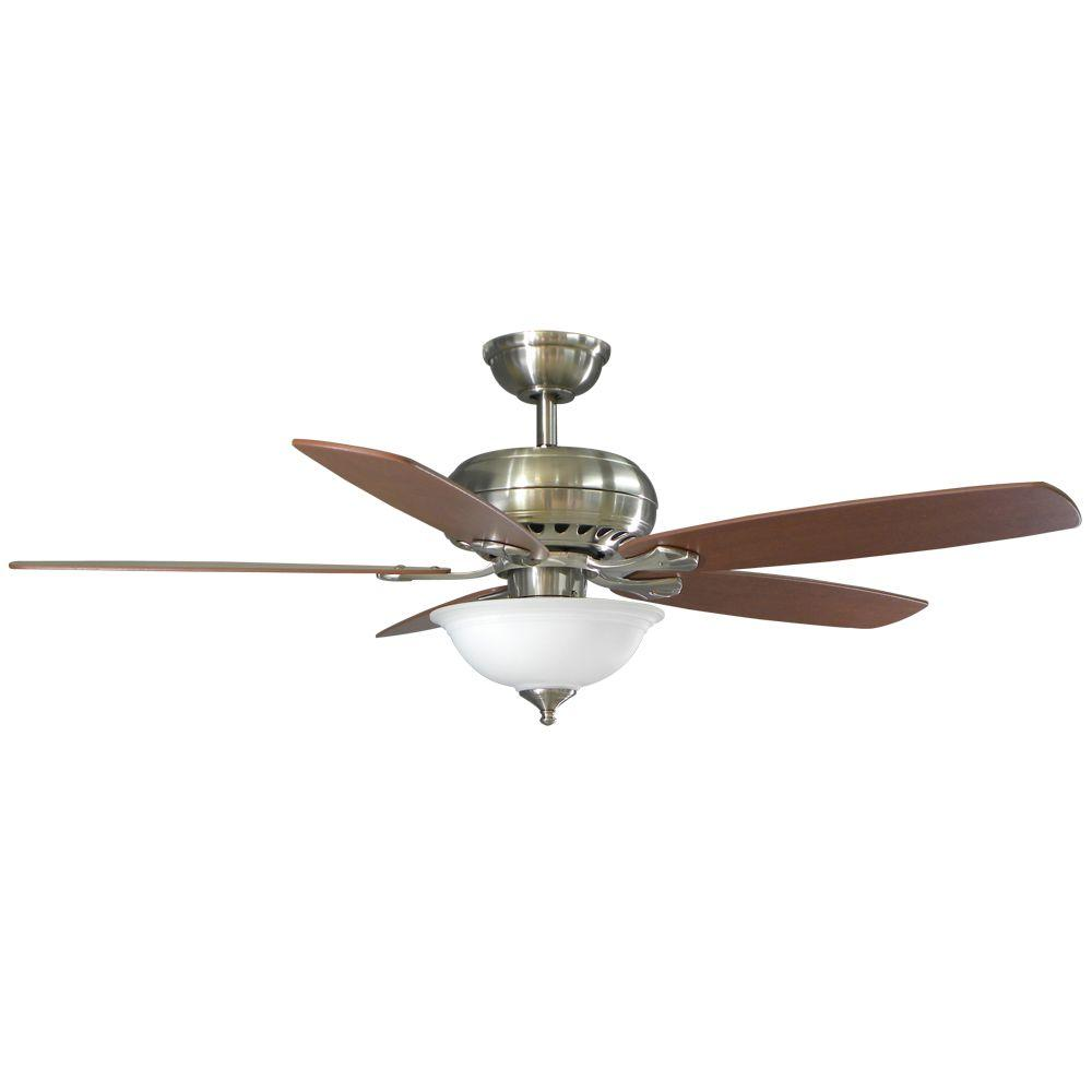 Hampton Bay 52379 Southwind 52 In Brushed Nickel Ceiling Fan PPPAE SAHAR Av