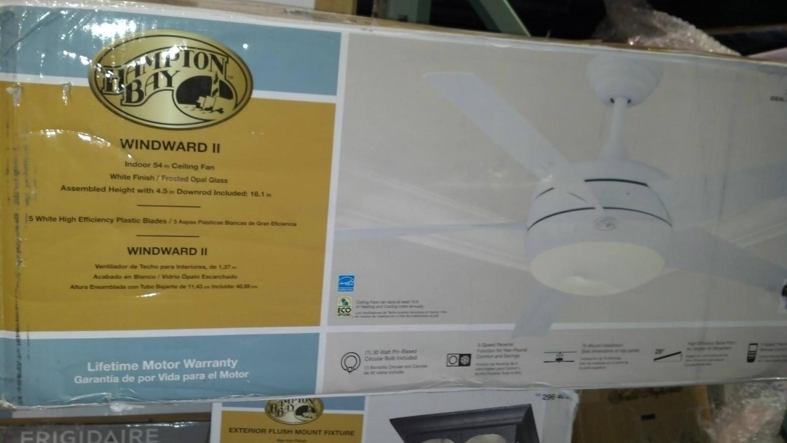 Hampton Bay 55296 Windward 54 In White Ceiling Fan With Light Kit PPPA Avi