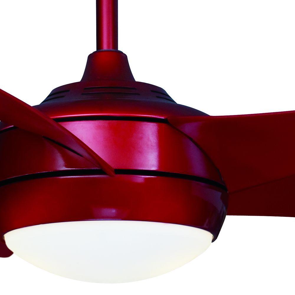 Hampton Bay Windward Light Bulb: Hampton Bay 66266 Windward IV 52 In. Red Ceiling Fan
