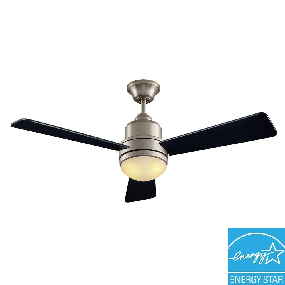 Hampton Bay 68042 Trieste 52 In Indoor Brushed Nickel Ceiling Fan PPPZ1AE LO