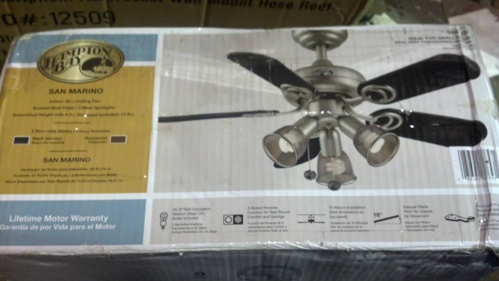 hampton bay 68353 san marino 36 in. brushed steel ceiling ... wiring diagram hampton bay san marino #4