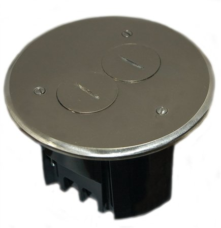 Allied Moulded FB-3N Duplex Device Round Floor Box