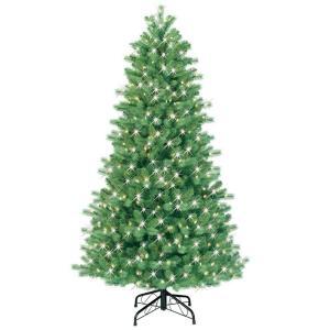 GE 6.5 ft. Pre-Lit Just Cut Bavarian Pine Artificial ...