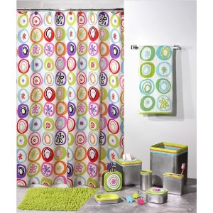 All That Jazz Retro 60'S Starburst Shower Curtain