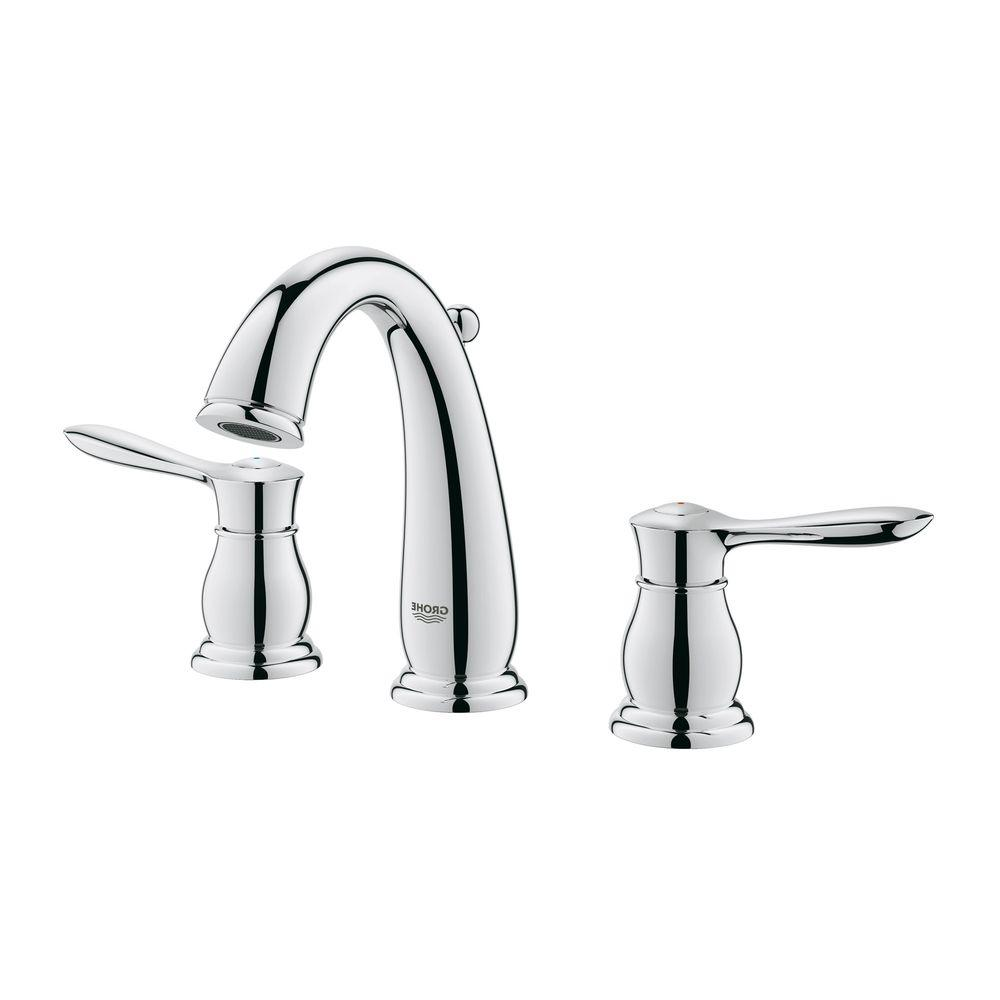 Grohe 20390000 parkfield 8 in widespread bathroom faucet for 8 widespread bathroom faucet chrome