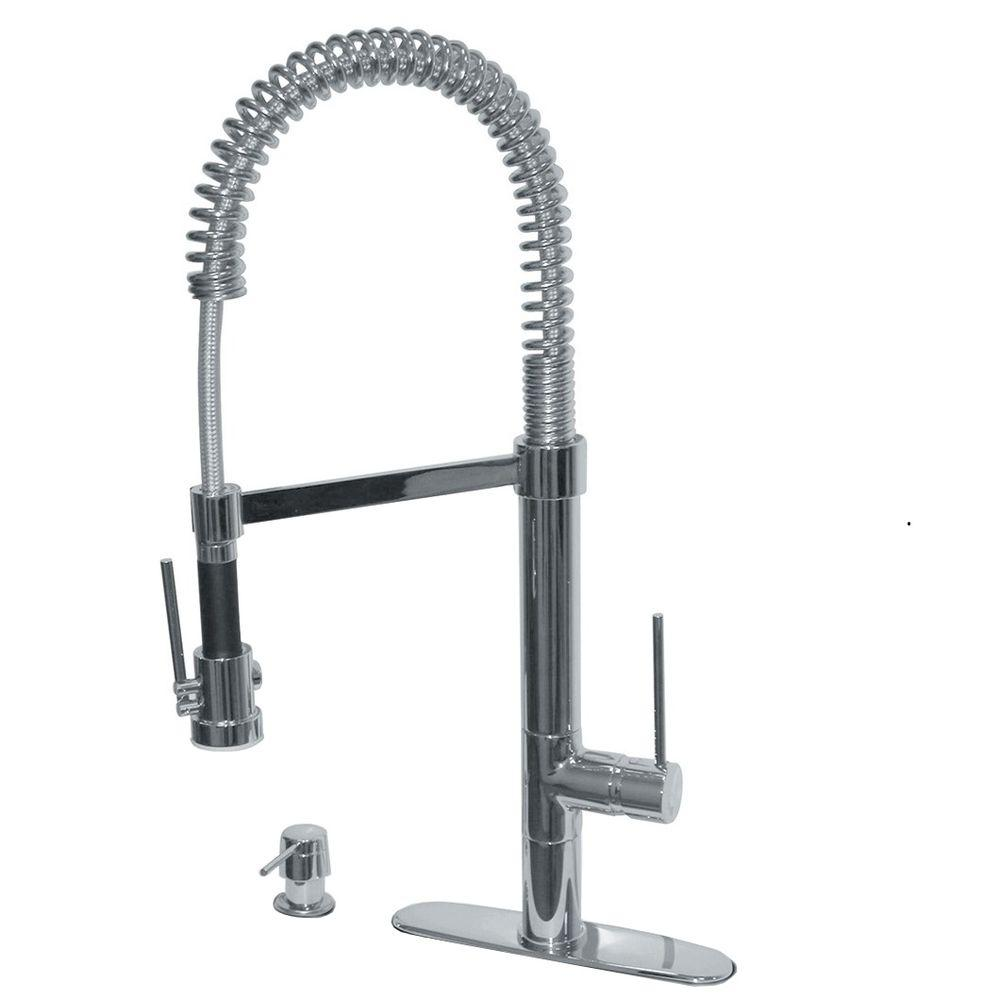 LaToscana 78PW557LFEX Marilyn Commercial Pull-Down Kitchen Faucet ...
