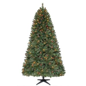 Home Accents Holiday 7.5 ft. Pre-Lit Wesley Pine Quick Set ...