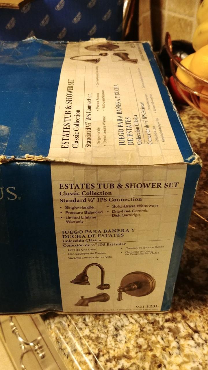 Pegasus 873 7096h Estates Pressure Balance Single Handle Tub