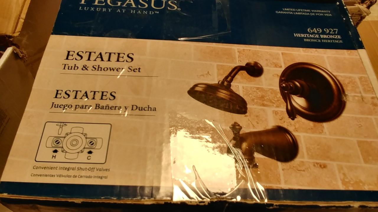Pegasus 874-5196H Estates Single-Handle Tub and Sh