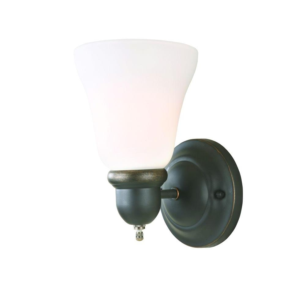 Hampton Bay GAY8411A 1 Light Oil Rubbed Bronze Sconce PPP1