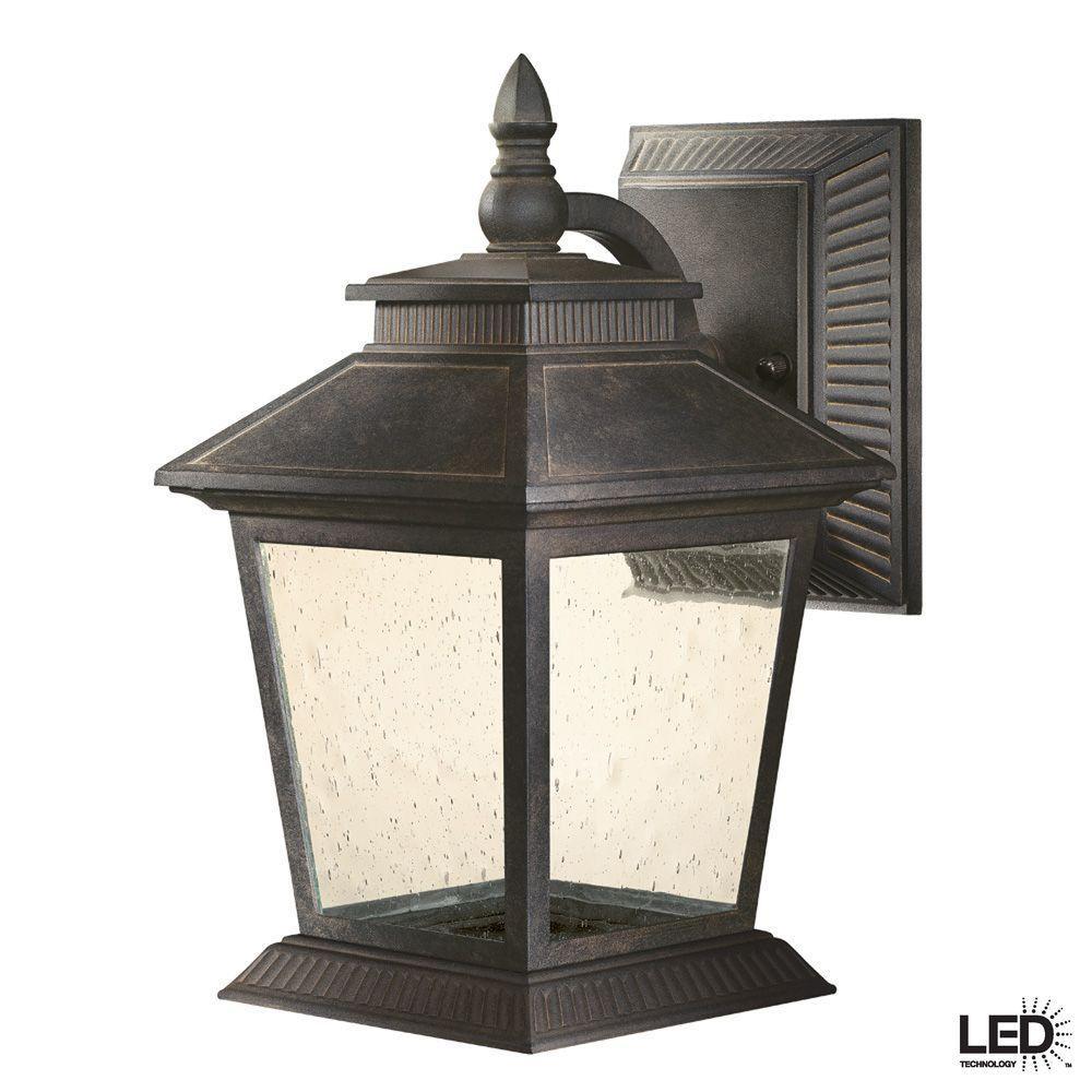 Hampton Bay EZT1691L Lexington Outdoor Rustic Bronze LED