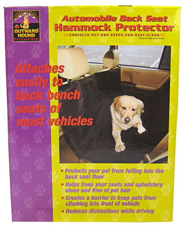 Outward Hound OH00679 Back Seat Pet Hammock, Blac