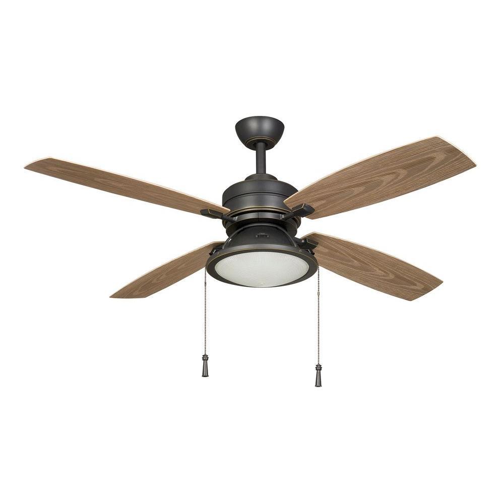 New 52 3 Light Bronze Indoor Ceiling Fan Best Price: Hampton Bay Kodiak 52 In. Indoor/Outdoor Dark Restoration