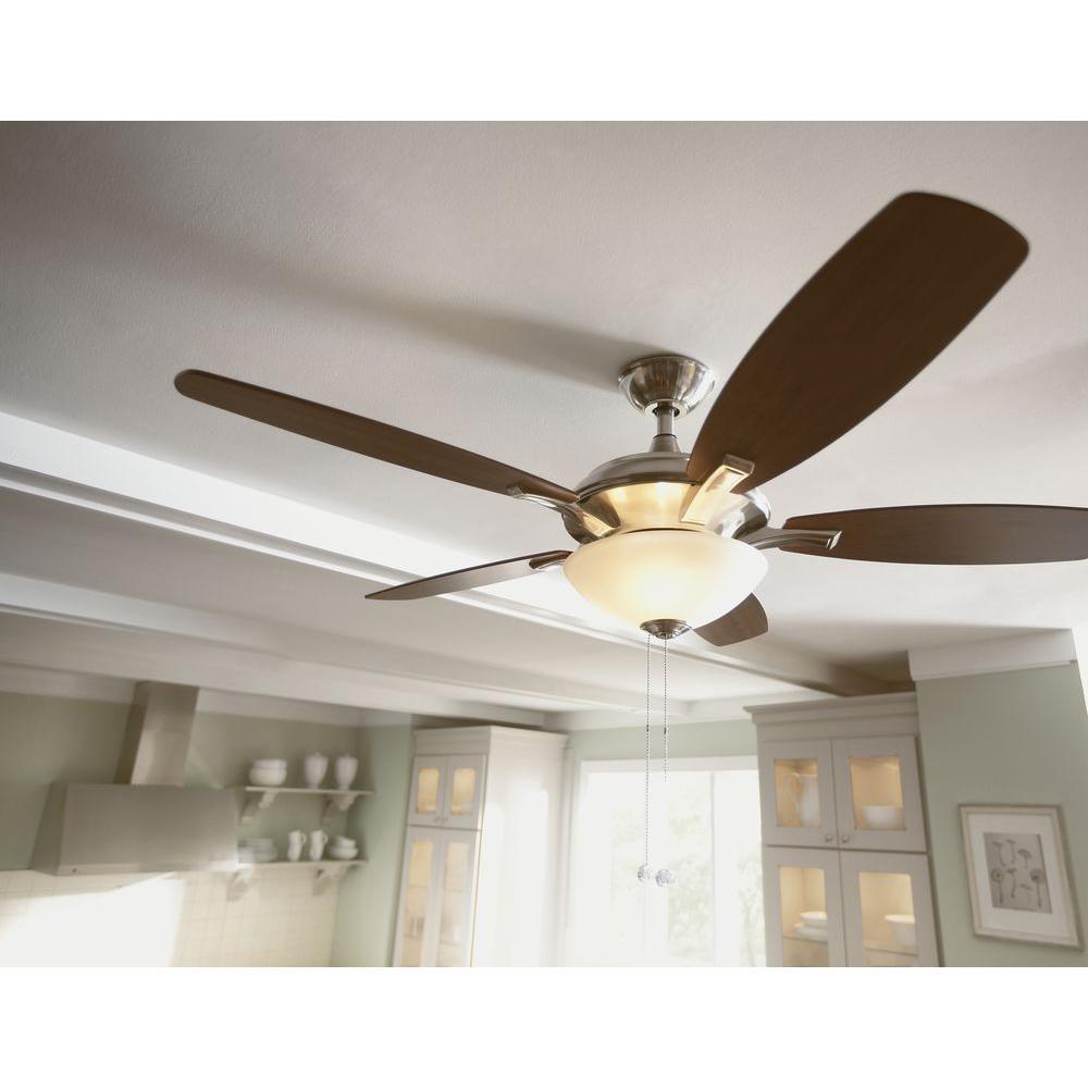 Hampton Bay 14922 Springview 52 In Brushed Nickel Ceiling Fan PPPZAE Avi De