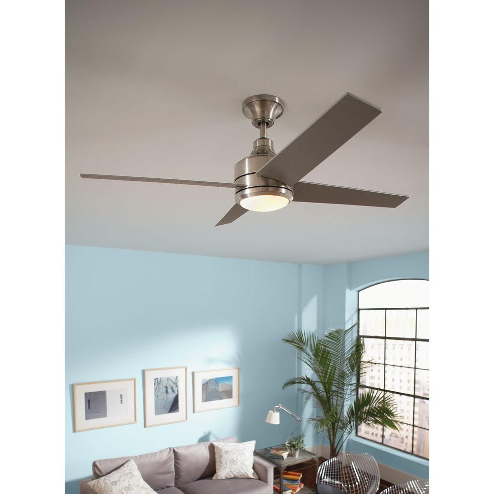 Hampton Bay 14925 Mercer 52 In Brushed Nickel Ceiling Fan