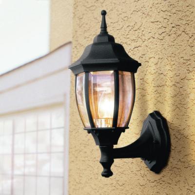 Hampton Bay Bpp1611 Blk Black 1 Light Outdoor Dusk To Dawn Wall Lantern Pppa Avi Depot Much