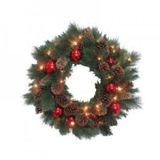 30 In Artificial Wreath With Decorative Pine Cone