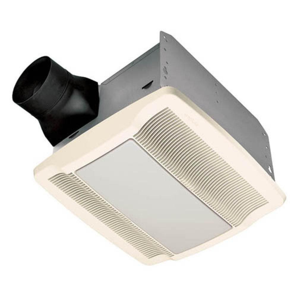 Nutone qtrn110l ultra silent ceiling exhaust bath fan with for Nutone bathroom exhaust fan installation