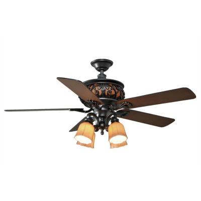 Hampton Bay AC434 NI Ponte Vecchio 54 In Natural Iron Ceiling Fan Light Kit