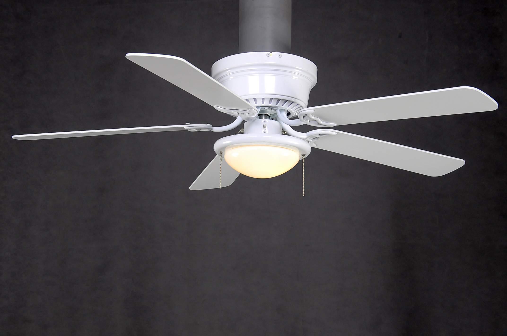 hampton bay hugger 52 inch low profile white dome light ceil