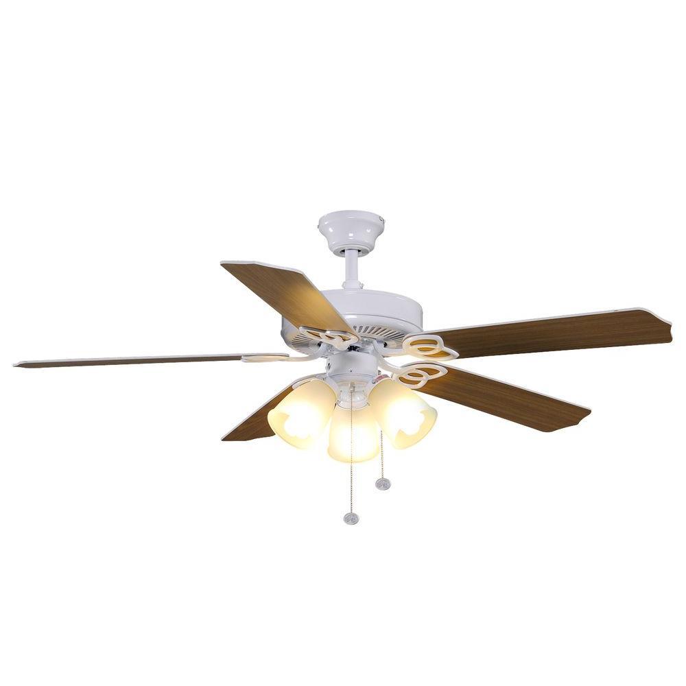 Hampton Bay YG268 WH Brookhurst 52 In White Ceiling Fan PPPSAE1 Avi Depot M