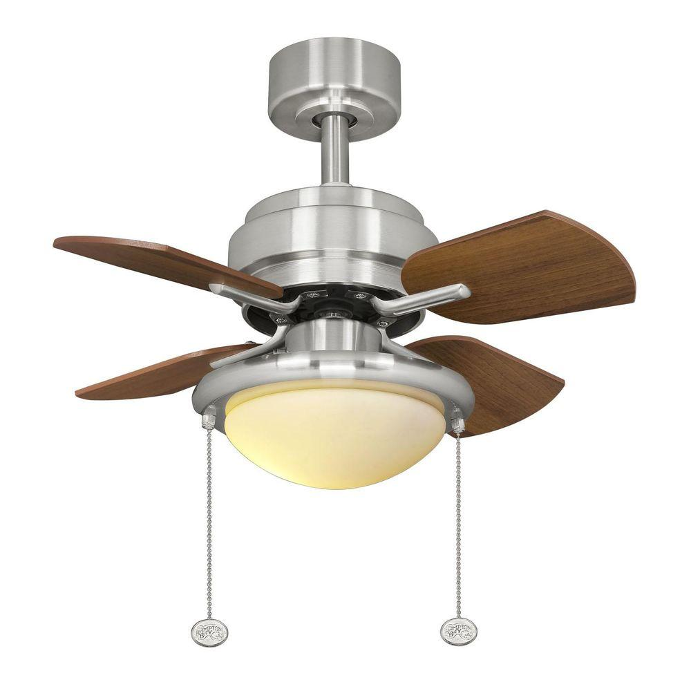 Hampton Bay AL508 BN Metarie 24 In Brushed Nickel Ceiling Fan PPPAE SAHAR A