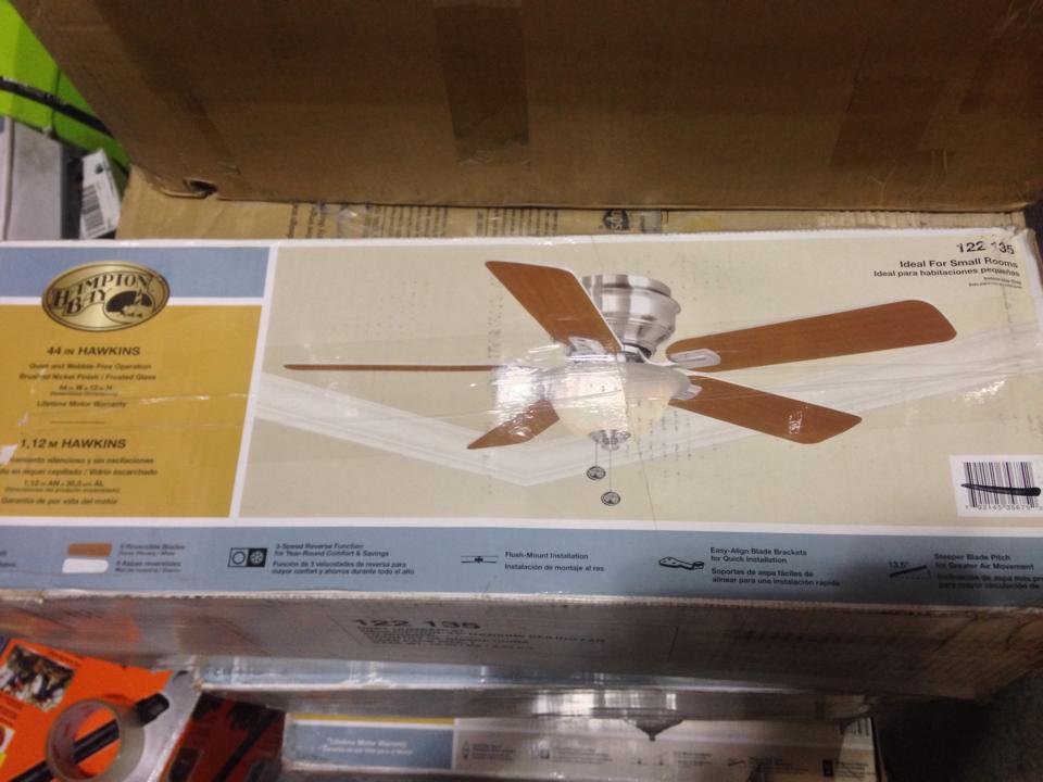 Hampton Bay YG204 BN Hawkins 44 In Brushed Nickel Ceiling Fan PPPAEB Avi De