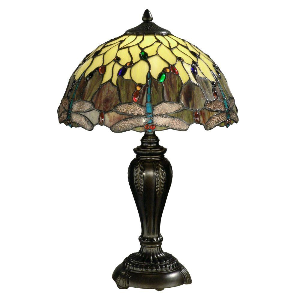 dale tiffany ftt10015 dragonfly 22 in antique bronze table lamp pppa. Black Bedroom Furniture Sets. Home Design Ideas