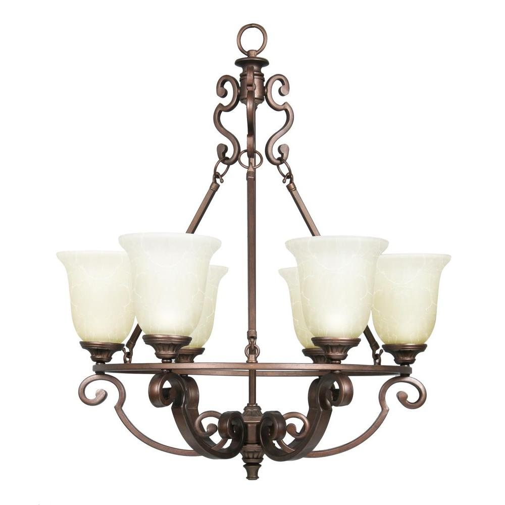 Home Decorators Collection 14700 Fairview 6 Light Heritage